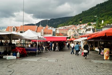 El famoso 'Fish Market' de Bergen.