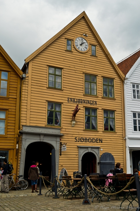 Una de las casas del Bryggen.