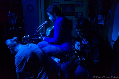 Jam session en el bar.