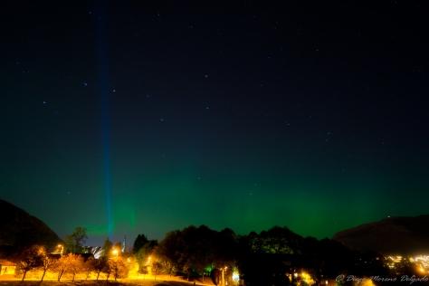 Primera vez que vi la aurora boreal.