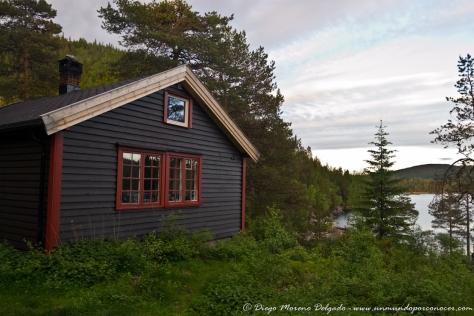 Día en una cabaña en medio de la naturaleza cerca de Trondheim.