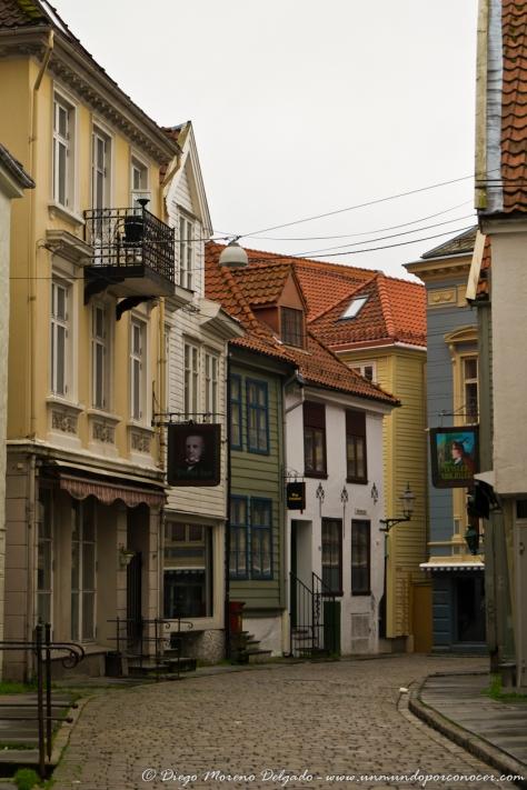 Calles del centro de Bergen.