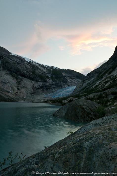 Lengua de uno de los glaciares noruegos.