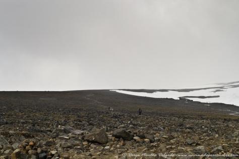 Cima de la montaña desde donde salían expediciones para la visita de otro glaciar.