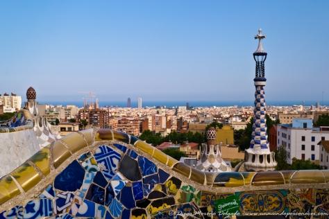 El famoso Parque Güell de Gaudí.