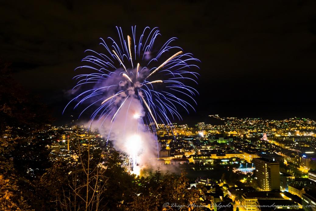 Fuegos artificiales en Bergen.