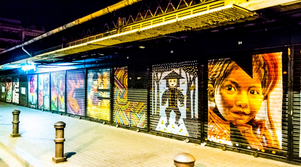 Arte callejero en Gràcia.